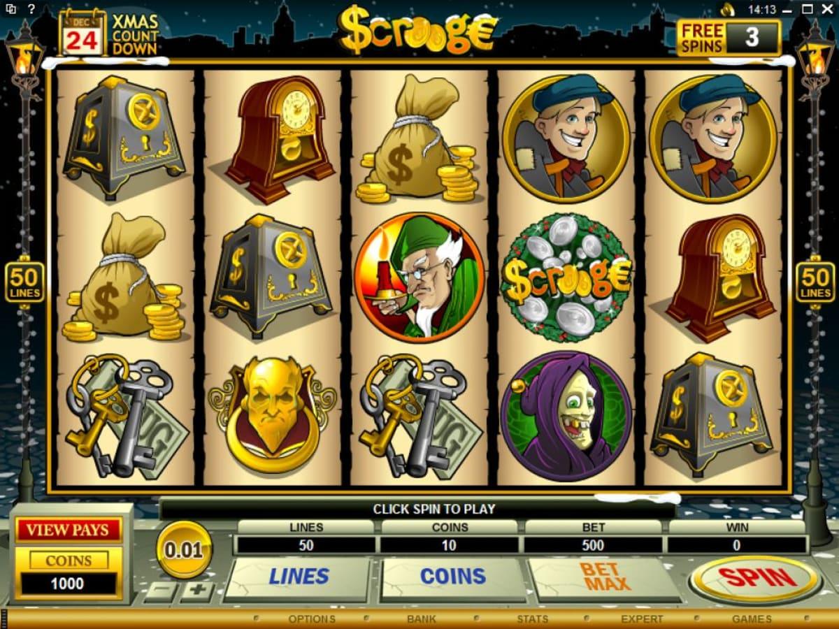 scrooge slot lines